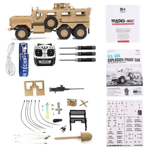 1/12th Scale HG-P602 MRAP Explosion Proof Truck Upgraded ARTR