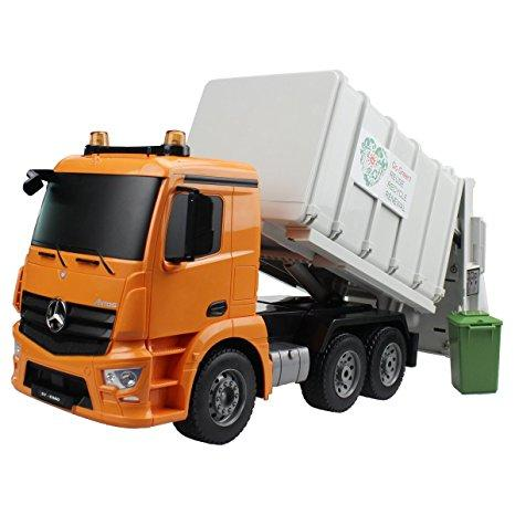2.4GHz RTR RC Construction - 1/20th Scale Mercedes-Benz Antos Garbage Truck