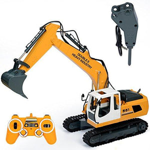2.4GHz RTR RC Construction - 1/16th Scale Excavator with Accessories