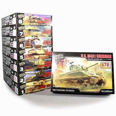 1:72nd Kit US M4A1 Sherman - France, August of 1944 - Taigen Tanks