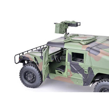 Load image into Gallery viewer, 1/10th Scale HG-P408 4x4 Military Humvee Upgraded ARTR w/ LEDs and Sounds