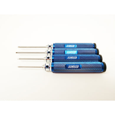 4pc Hardened Tool Steel Metric Ball Hex Set (1.5-3mm) - Taigen Tanks