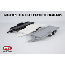 Load image into Gallery viewer, 1/24th Scale Flatbed Trailer with Loading Ramps and Ball Mount