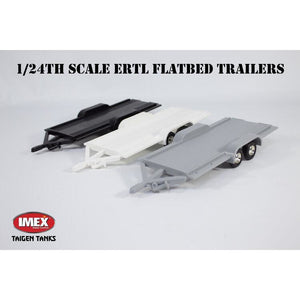 1/24th Scale Flatbed Trailer with Loading Ramps and Ball Mount