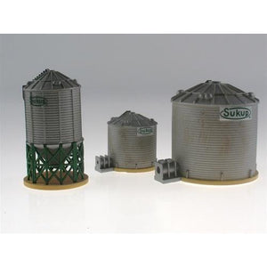 IMEX Perma Scene - Sukup Grain Tower Set (3 Towers Total) - Taigen Tanks