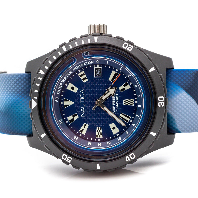 NAUTICA Herrenarmbanduhr Mod. SURFSIDE (Deep Water Indicator) - NAPSRF004