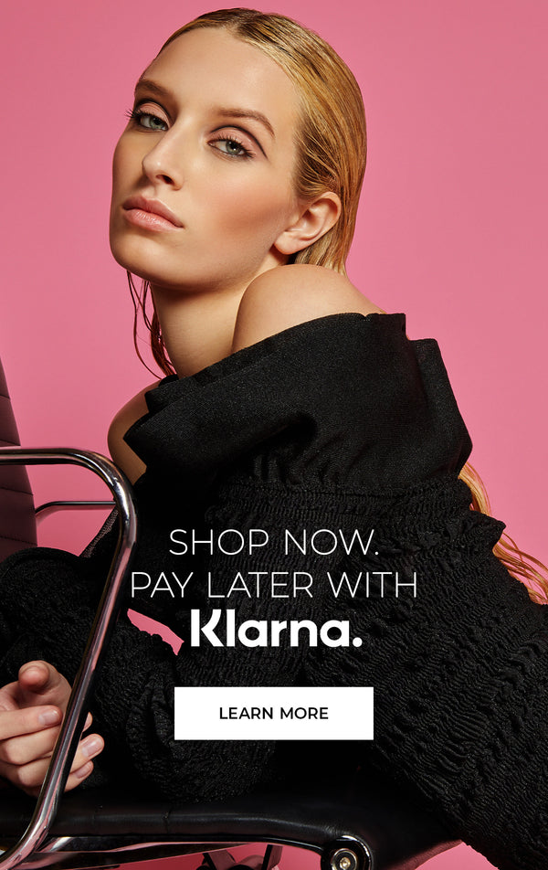 Shop now. Pay later with Klarna.