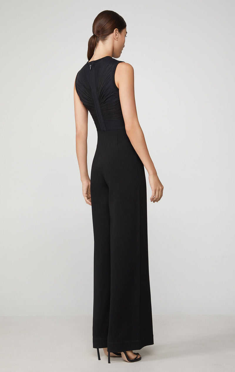 Shirred Wide Leg Jumpsuit