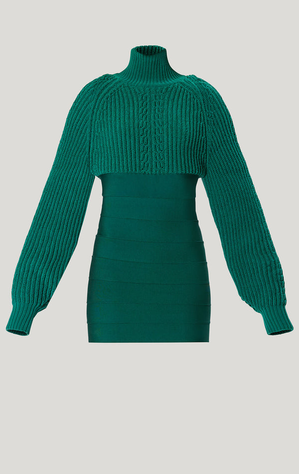 Chunky Turtleneck Mini Dress