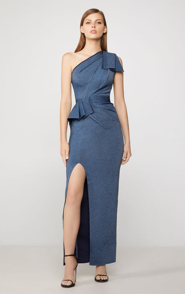 One-Shoulder Bow Gown
