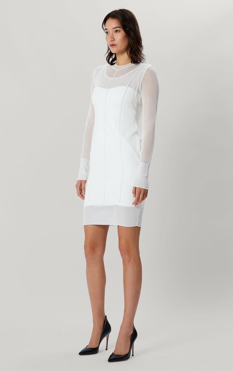 Layered Crew Neck Dress