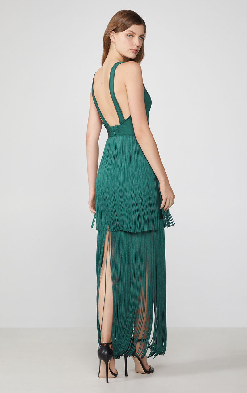 Fringed Evening Gown