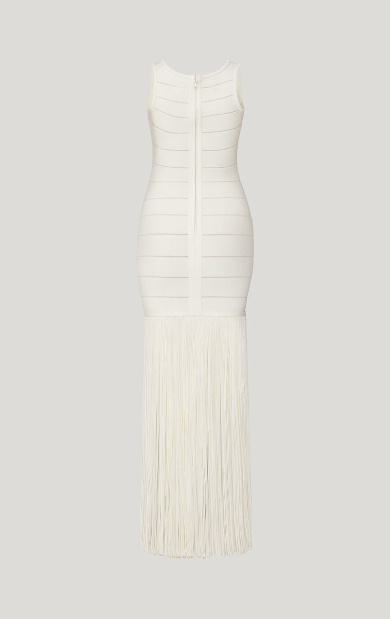 Scoop Neck Fringe Dress