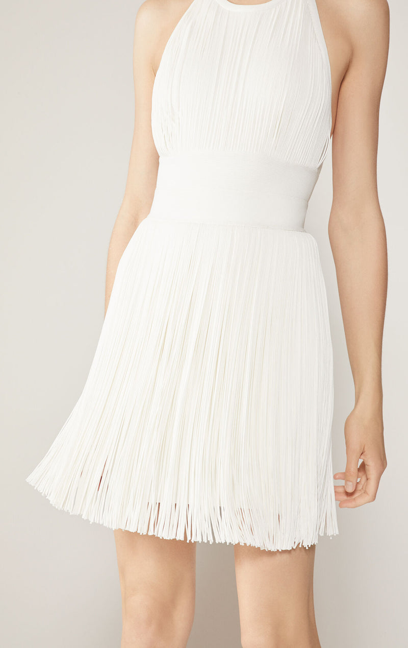 High Neck Fringe Dress