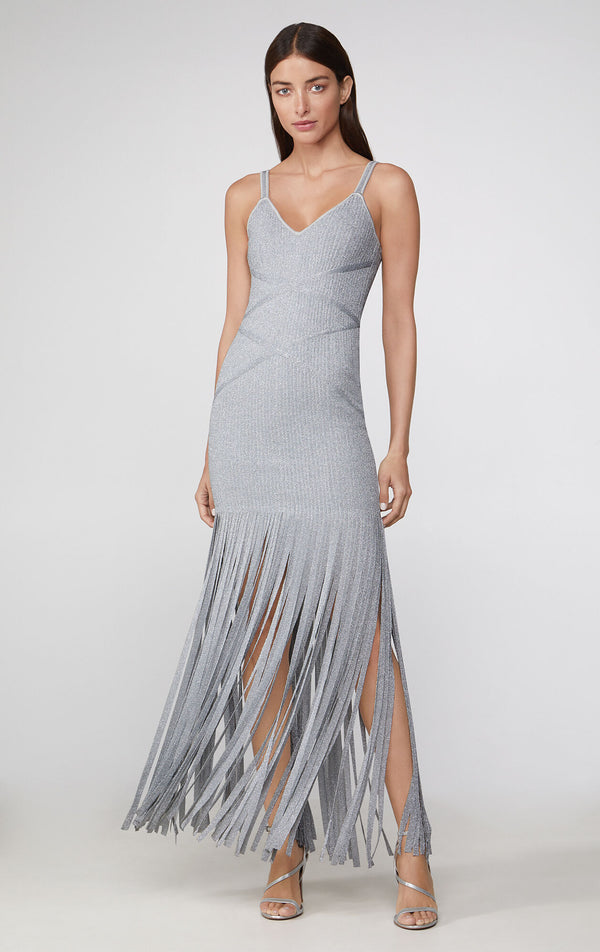 Lurex Ribbon Fringe Dress