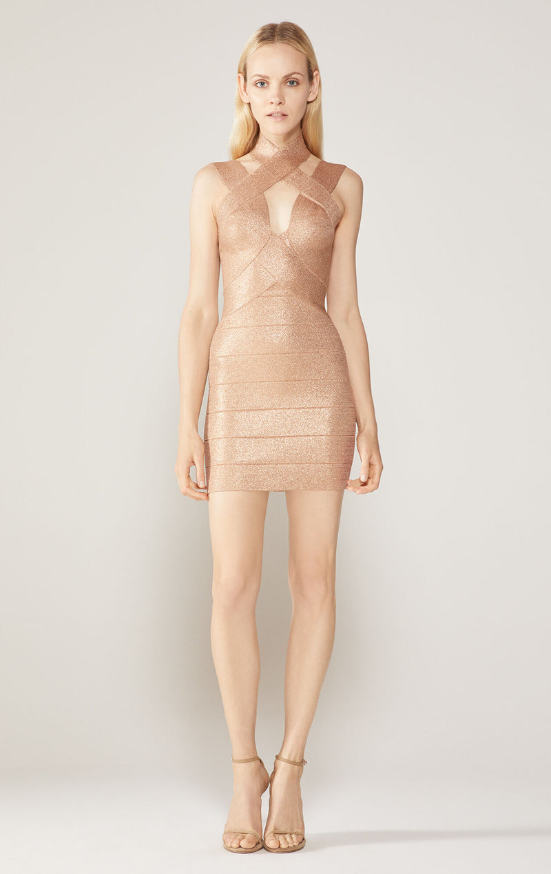 Lurex Bandage Mini Dress