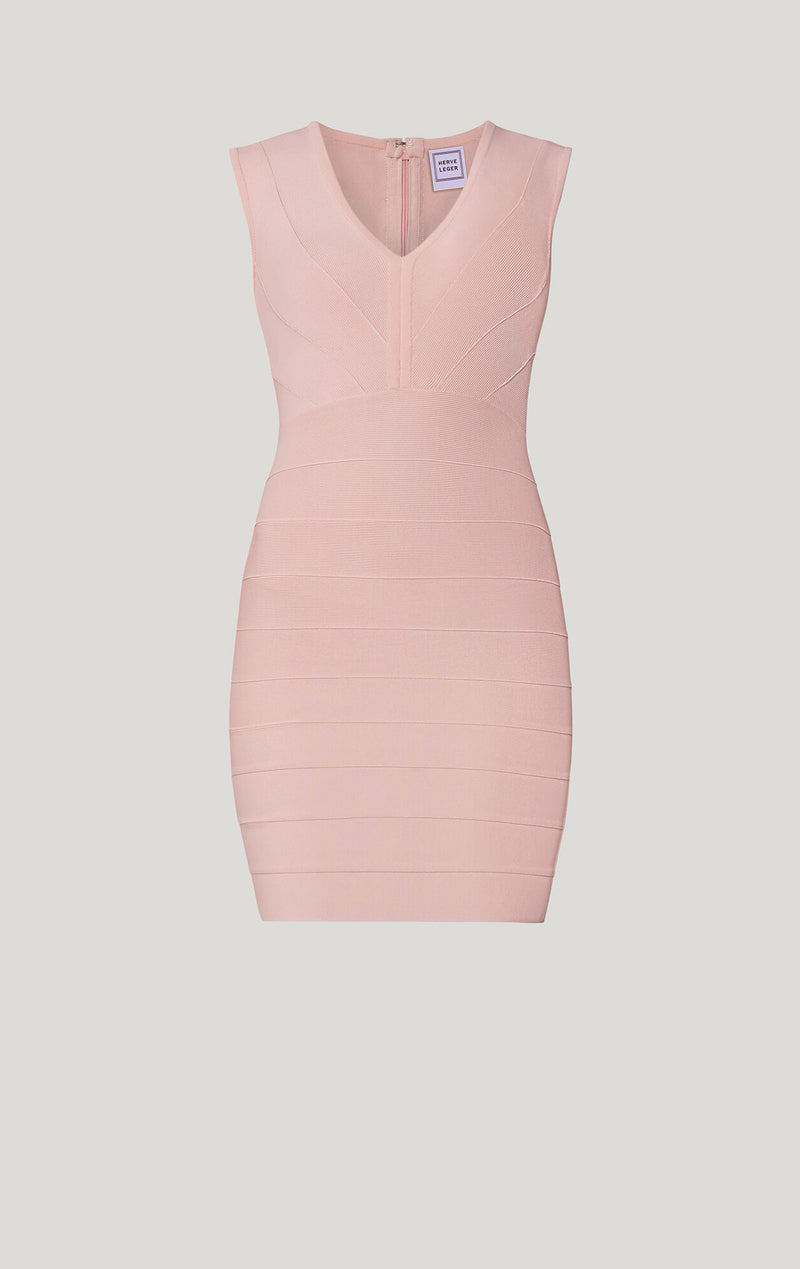 Icon Plunging V Mini Dress