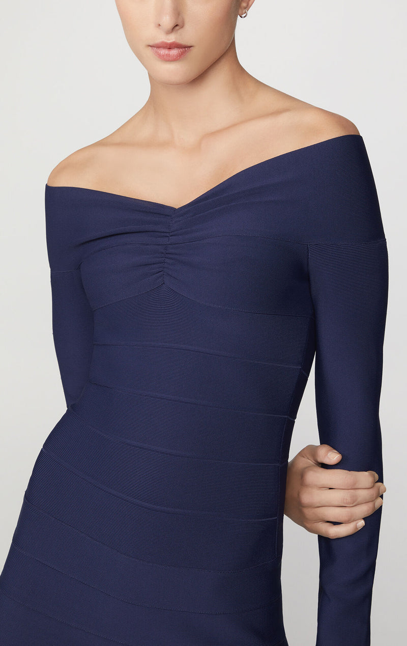 Icon Off The Shoulder Flared Dress