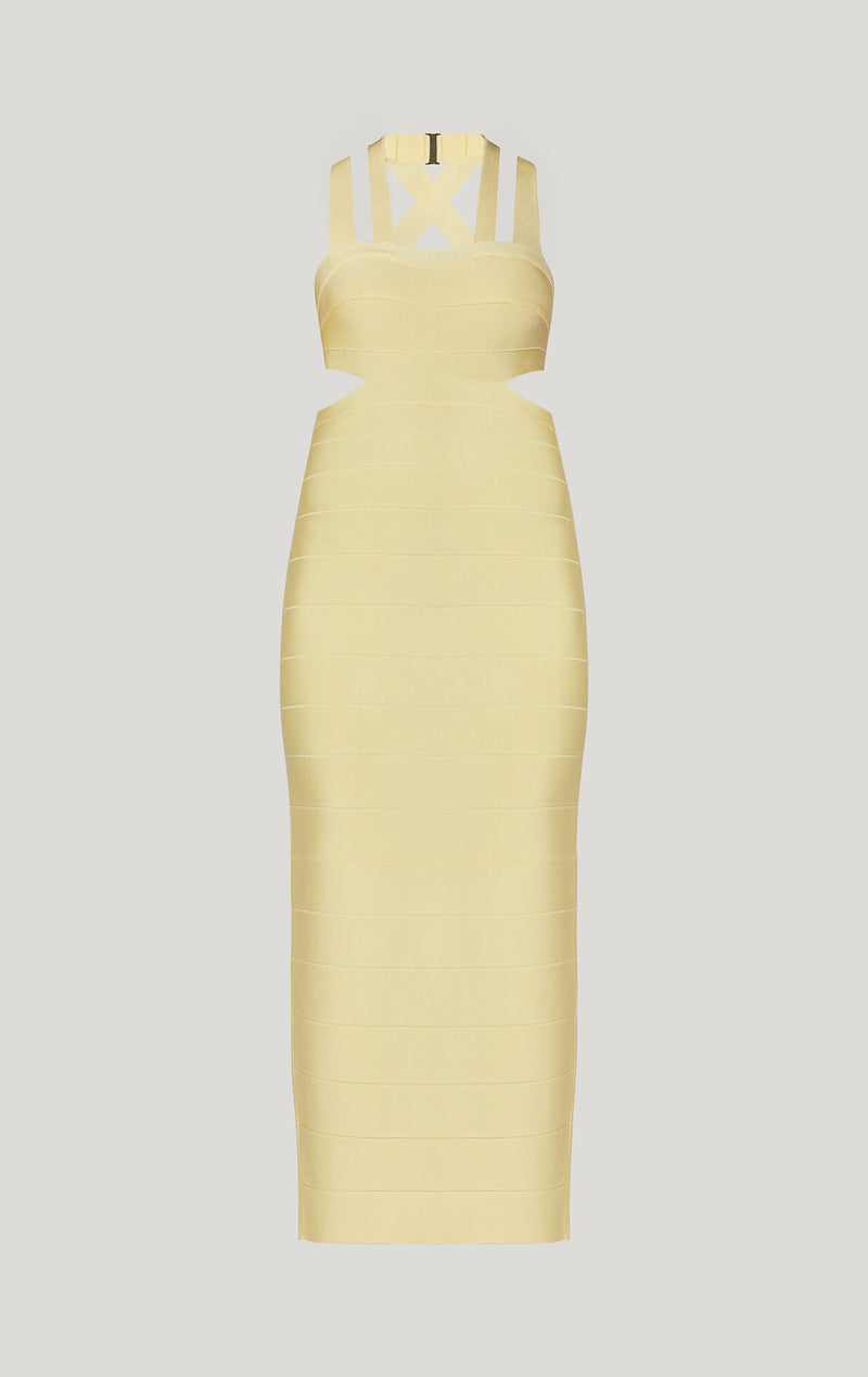 Strappy Cutout Gown