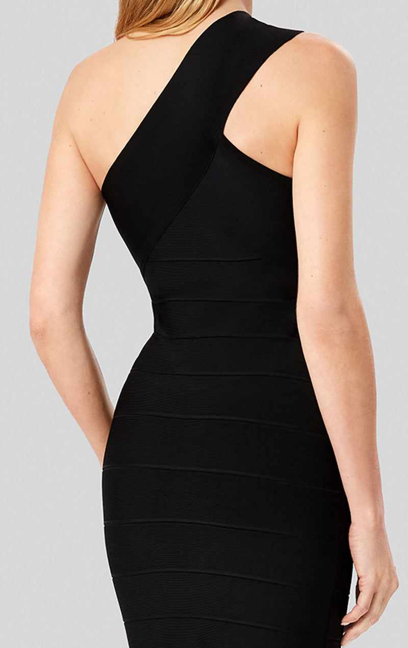 One Shoulder Mini Bandage Dress