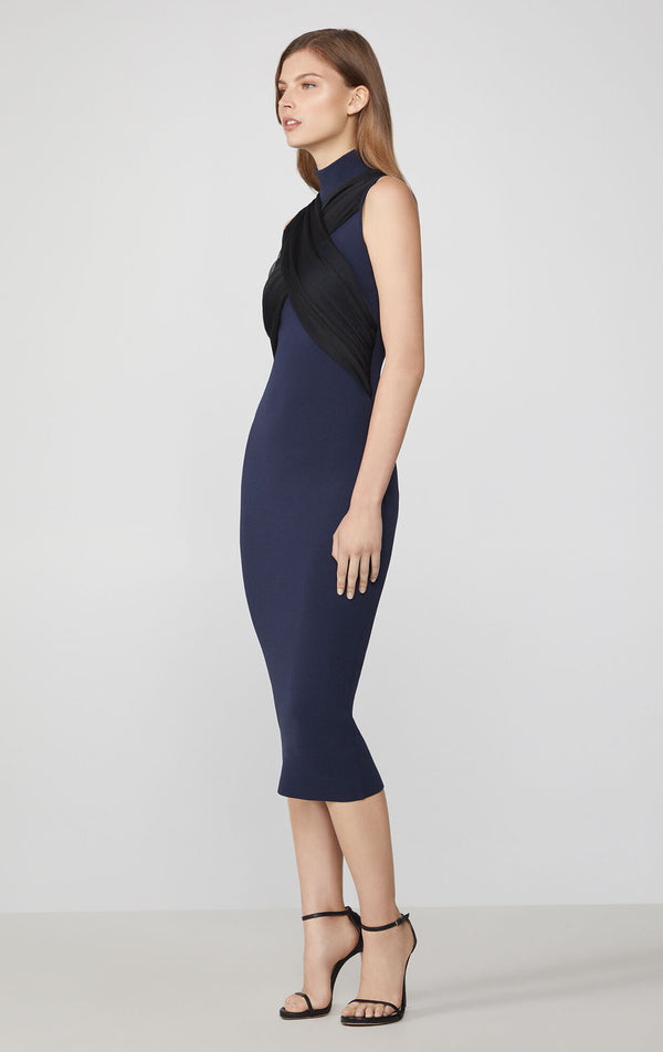 Cross Front Sheath Dress
