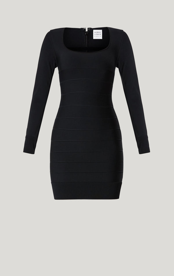 Icon Long Sleeve Mini Dress