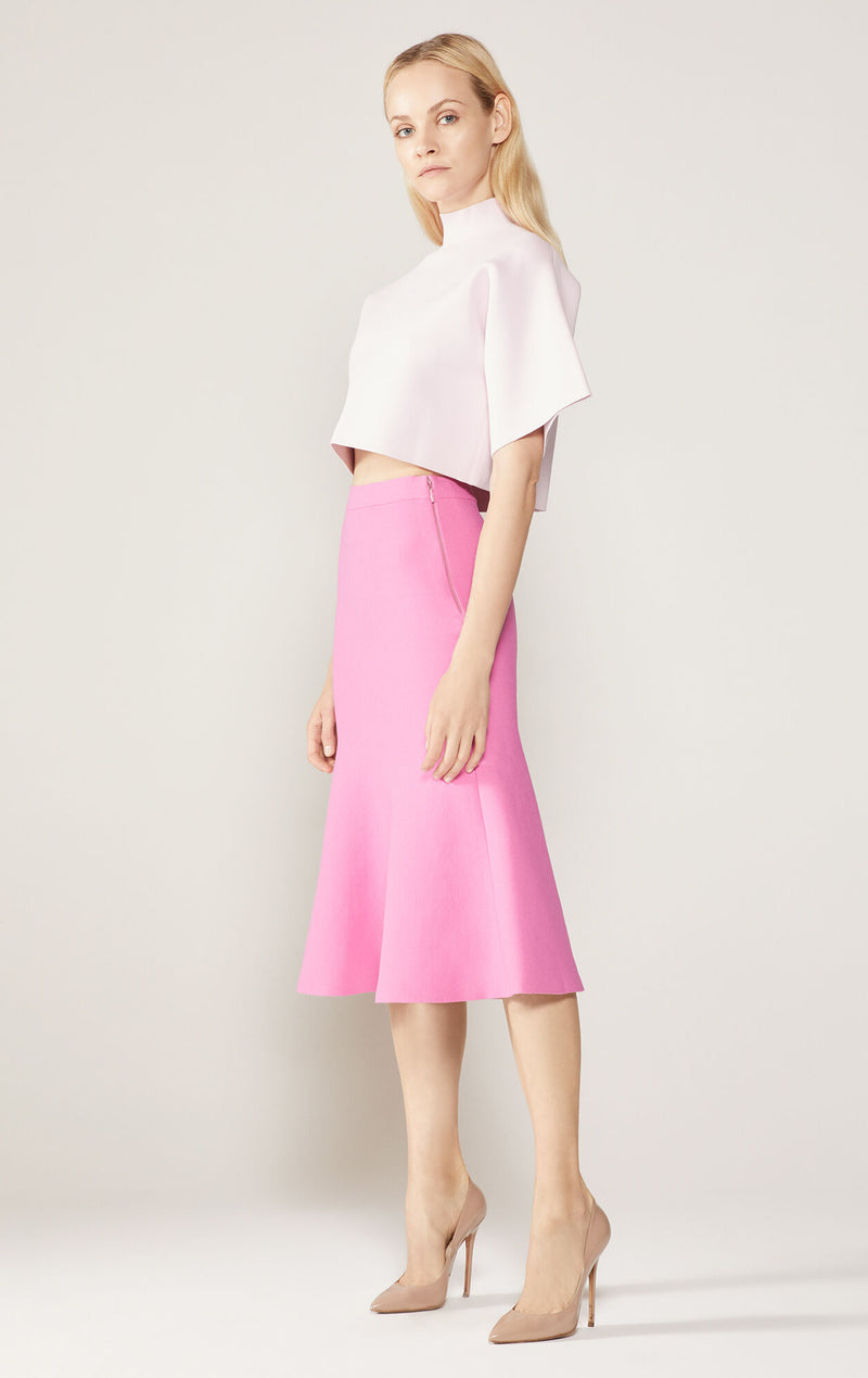 Double Knit Flared Skirt