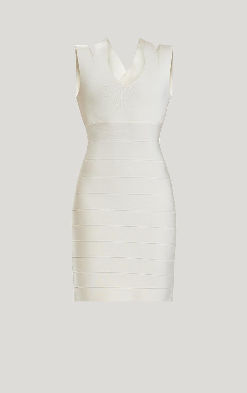 Bandage Rib Strappy Back Mini Dress
