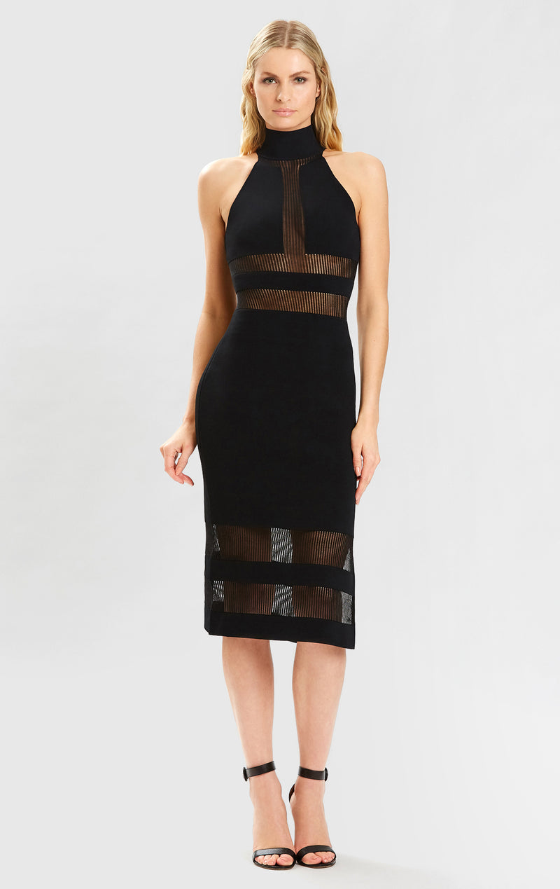 HL x JRR HALTER COLUMN DRESS
