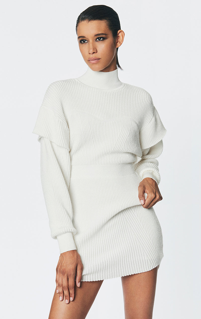 Tinsel Lurex Sweatshirt Mini Dress