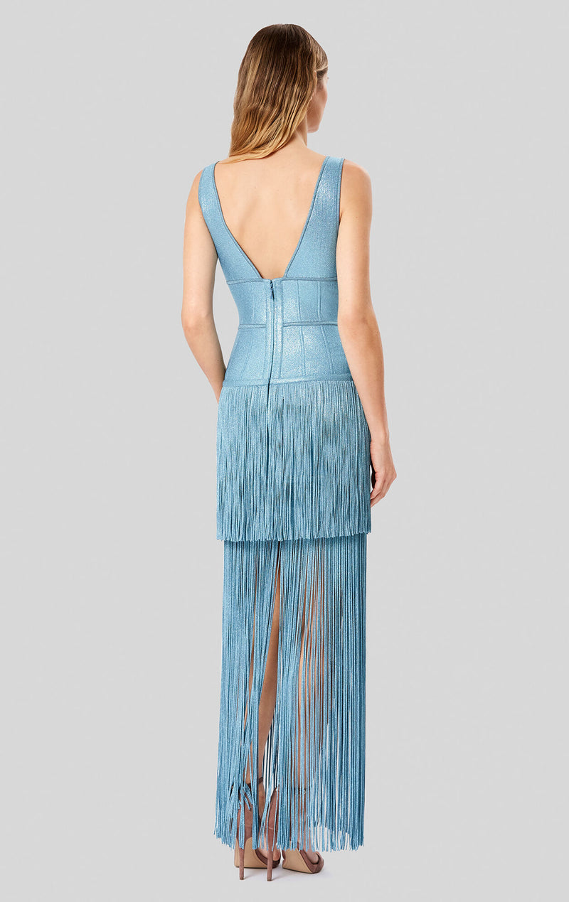 Lurex Deep V Gown