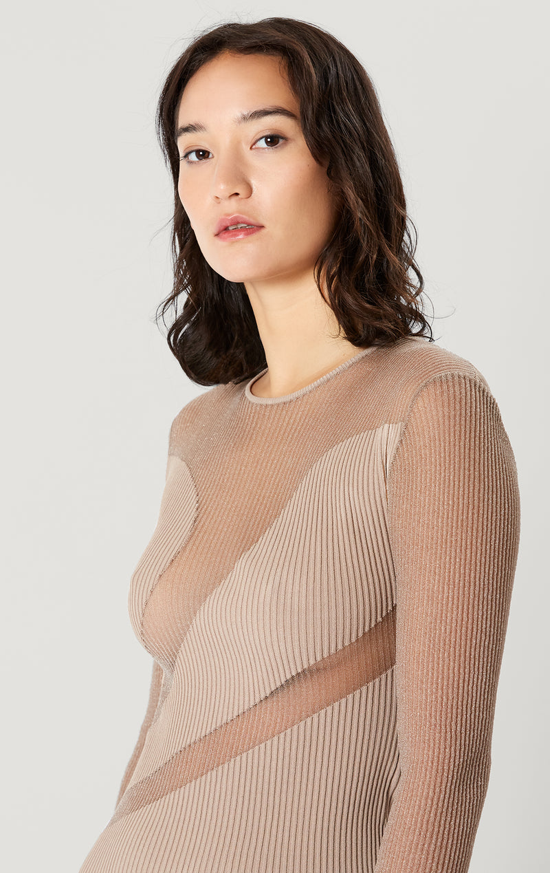 Opaque Sheer Dress