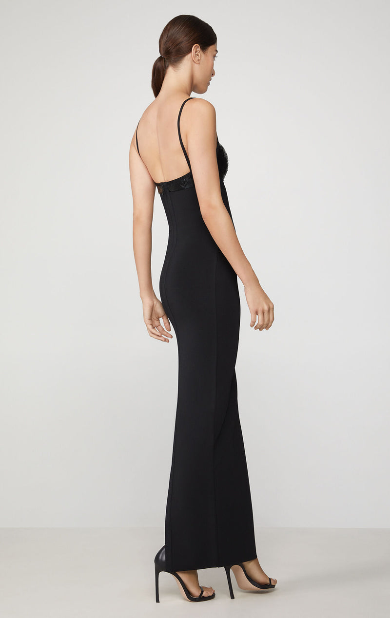 Sequin Ruched Gown