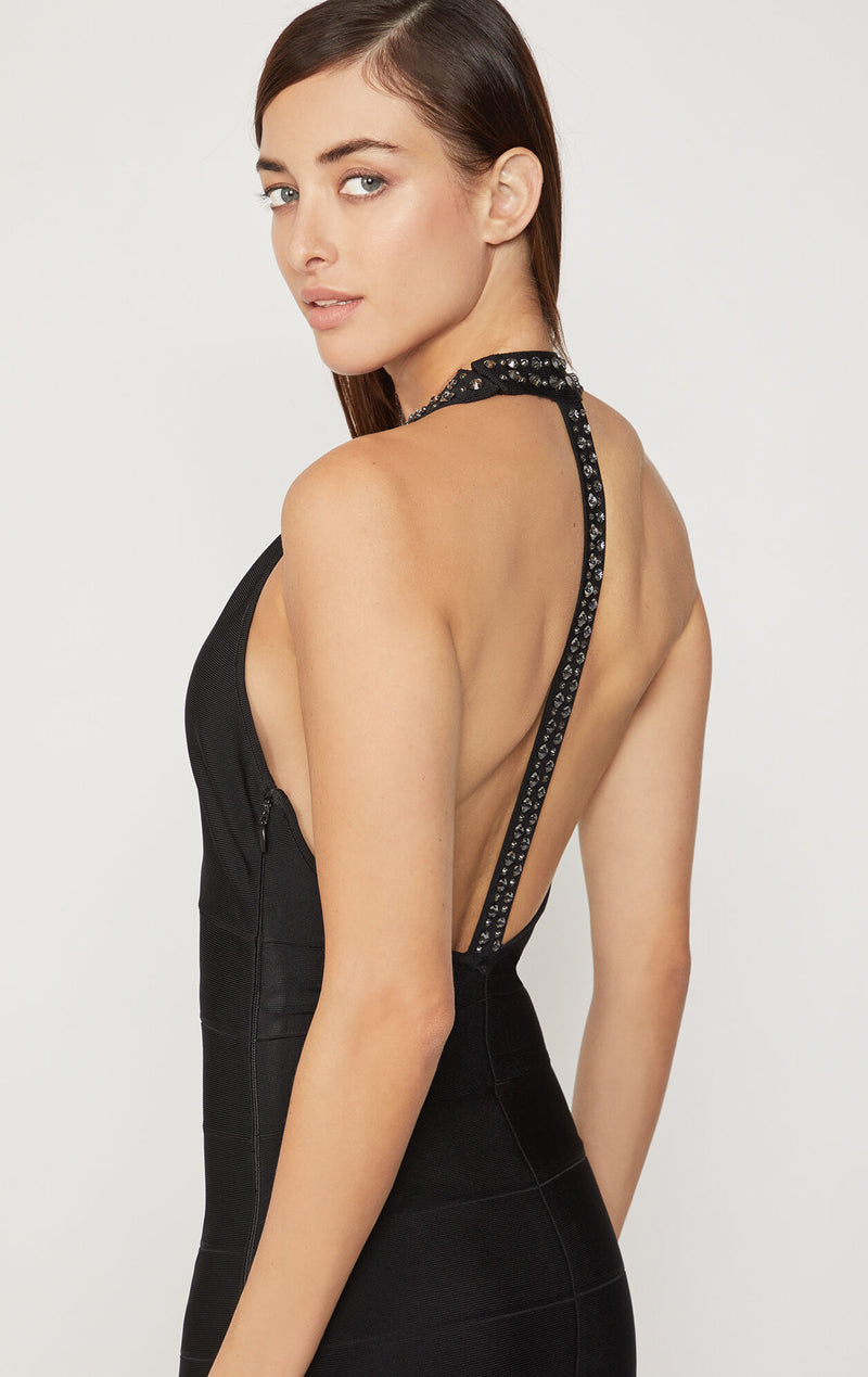 T-Back Gown with Swarovski® Crystals