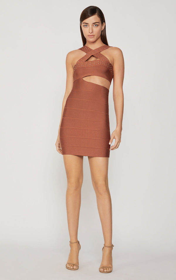 Cross Neck Mini Dress