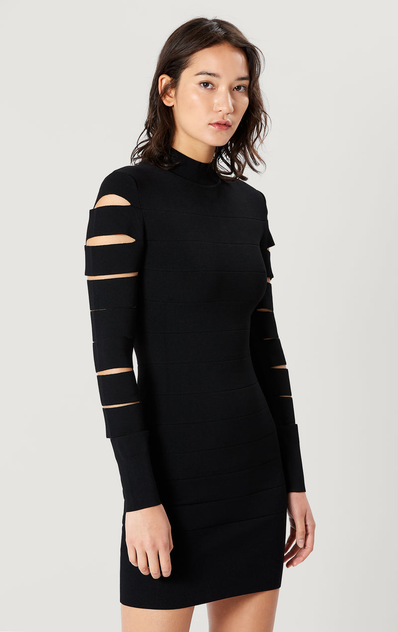Slits Long Sleeve Mini Dress