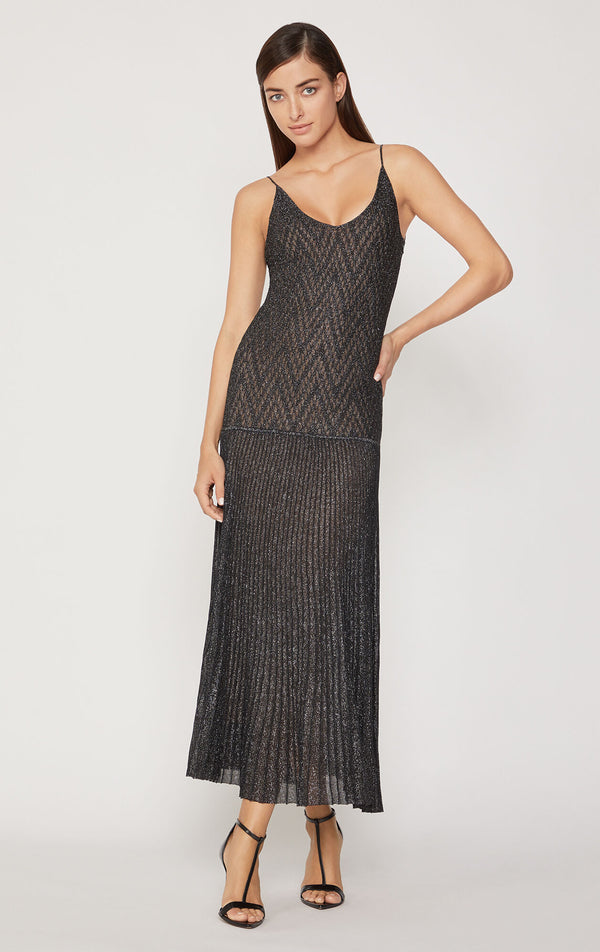 Chevron Lace Strap Gown