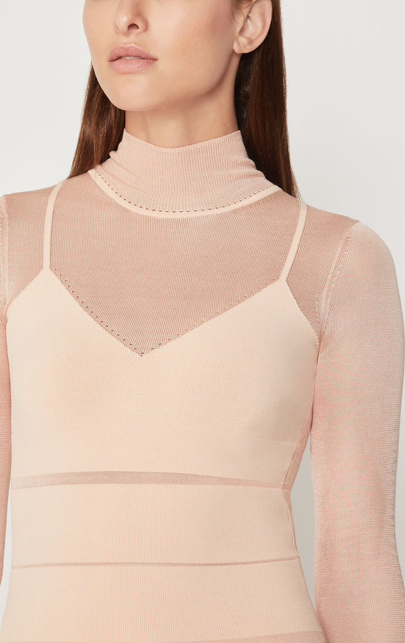 Sporty Mock Neck Top