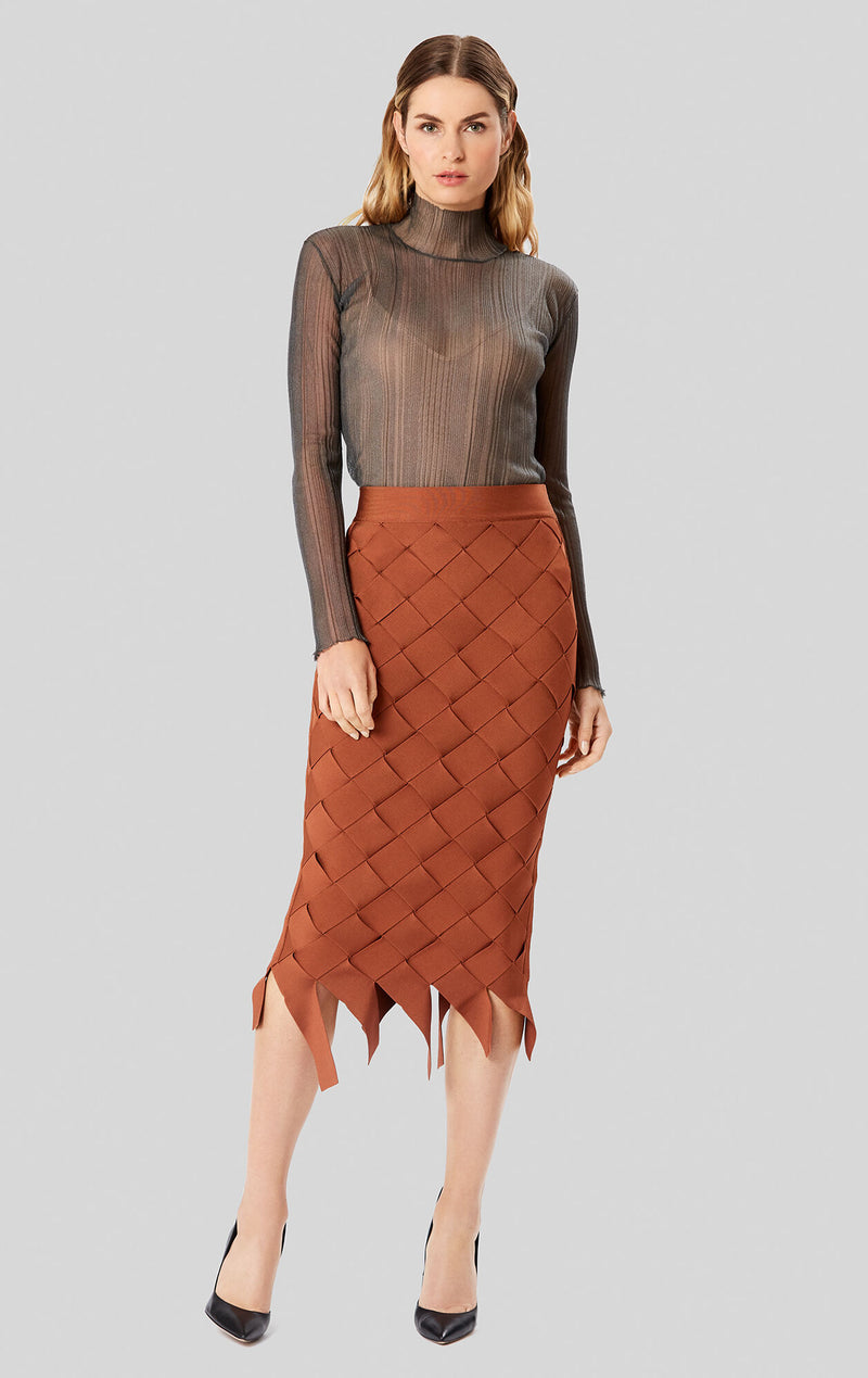 Bandage Weave Pencil Skirt