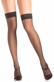 Be Wicked 787 Thigh High Stockings Black O-S Be Wicked centerpoint-fashion.myshopify.com