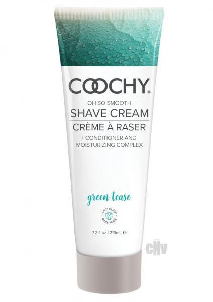 Coochy Shave Cream Green Tease 7.2oz Classic Erotica centerpoint-fashion.myshopify.com