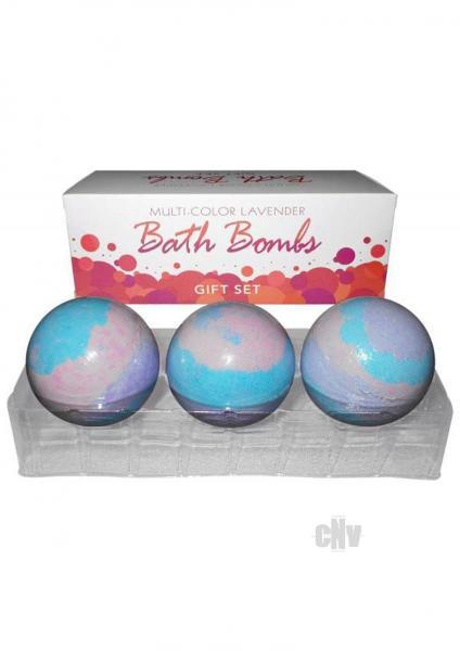 Multi Color Bath Bombs Lavender Gift Set 3 Pack Kheper Games centerpoint-fashion.myshopify.com