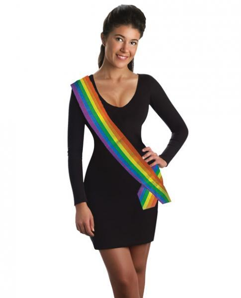 Rainbow Fantasy Sash Forum Novelties centerpoint-fashion.myshopify.com