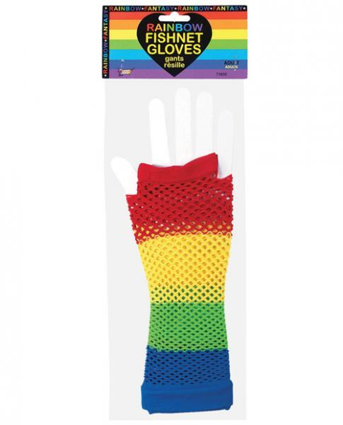 Rainbow Fishnet Gloves O-S Forum Novelties centerpoint-fashion.myshopify.com