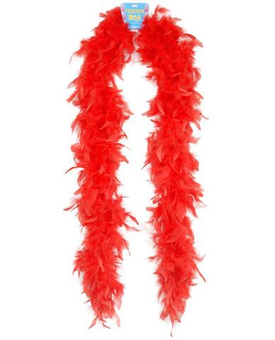 Feather boa 72in - red Assorted Vendors centerpoint-fashion.myshopify.com