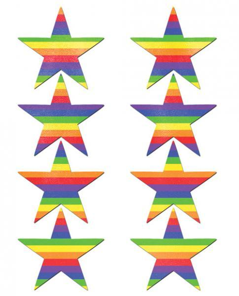 Pastease Mini Rainbow Stars Pack Of 8 O-S Pastease centerpoint-fashion.myshopify.com