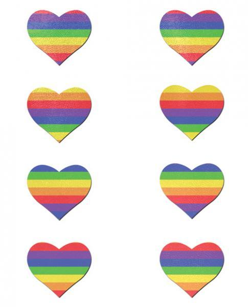 Pastease Mini Rainbow Heart Pack Of 8 O-S Pastease centerpoint-fashion.myshopify.com