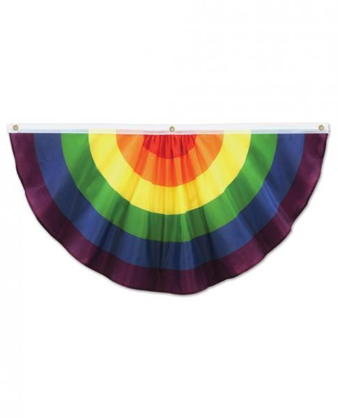 Rainbow Fabric Bunting 4 feet wide Assorted Vendors centerpoint-fashion.myshopify.com