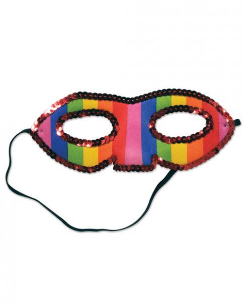 Sequined Rainbow Half Mask Assorted Vendors centerpoint-fashion.myshopify.com