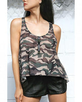Vibes Savage AF Swing Top Camouflage S-M Fantasy Lingerie centerpoint-fashion.myshopify.com